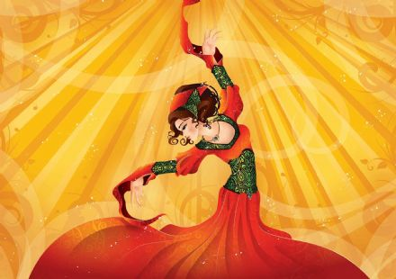 Easy install - wallpaper mural Dancer Flamenco 336